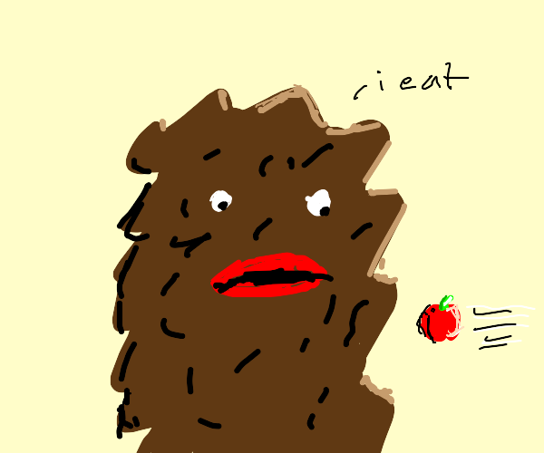 brown creature eating