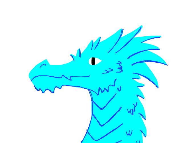 White eyes blue dragon