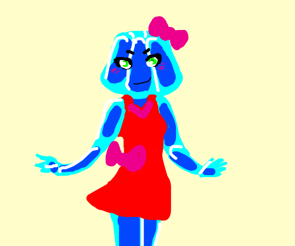 Jelly anime girl in a dress