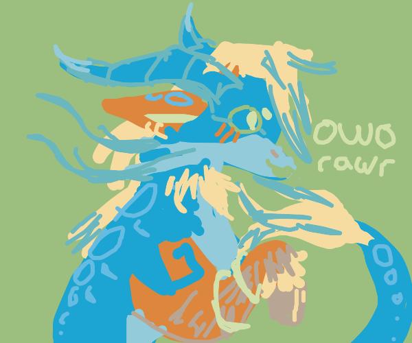 some sort of dragon horse hybrid fursona