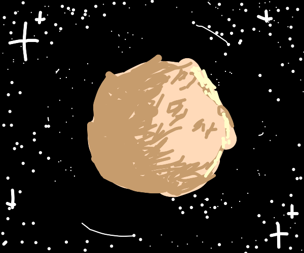 beige planet and little stars