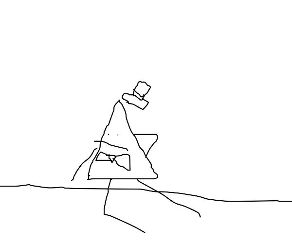 triangle person