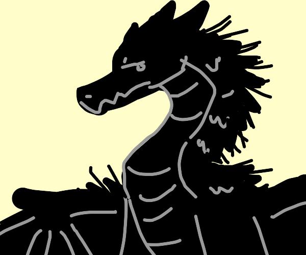 Black spikey dragon