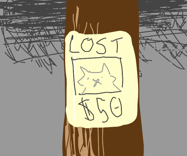 Wanted poster for a dog