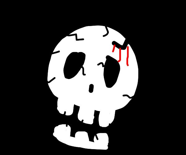 Bloody skeleton
