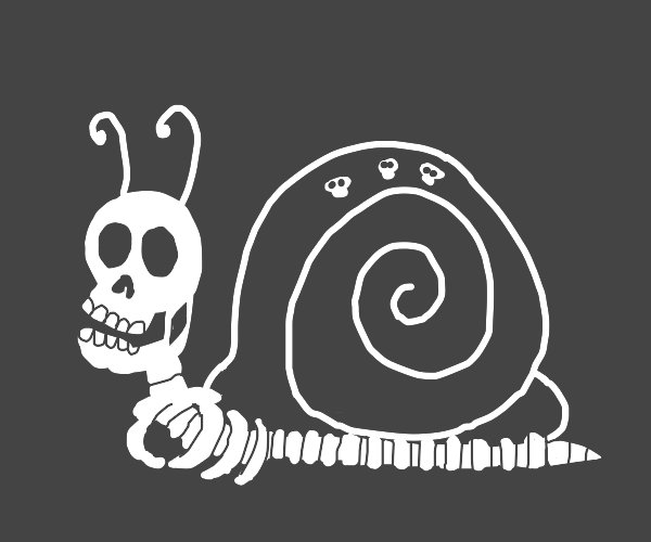 skeleton snail