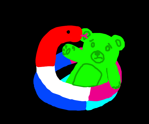 Gummy snake vs Gummy Bear