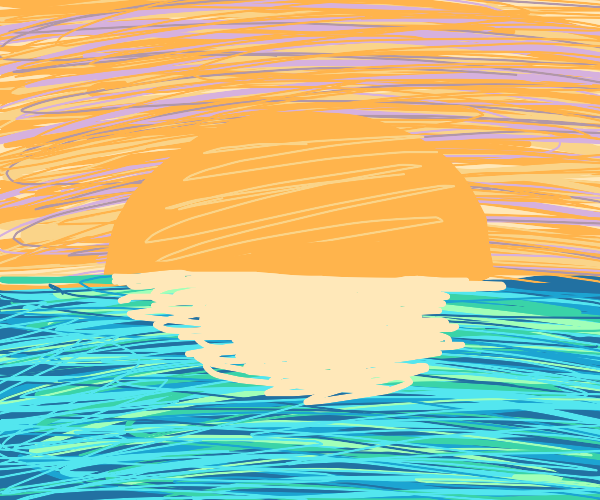 scribble sunset