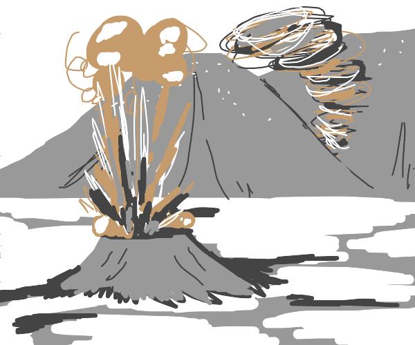 tornado and a geyser