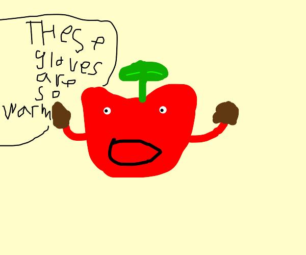Fruit wearing Gloves