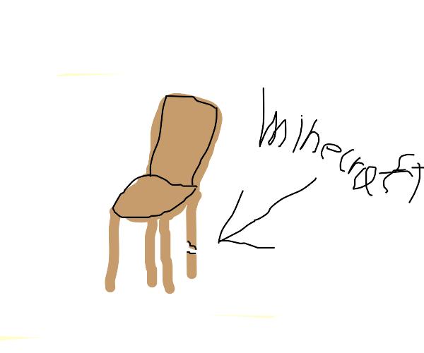 minecraft chair falls