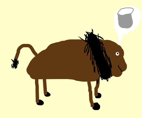 Bison imagining a Bucket