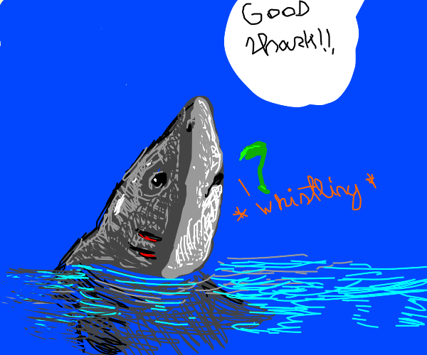 A shark learns how to whistle?