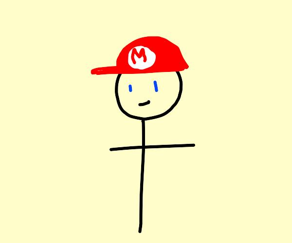 Mario but Stickman with no hands