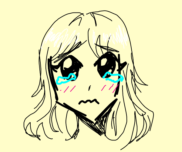 Teary-eyed Anime Girl
