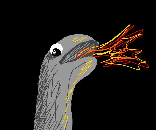 fire breathing sock puppet