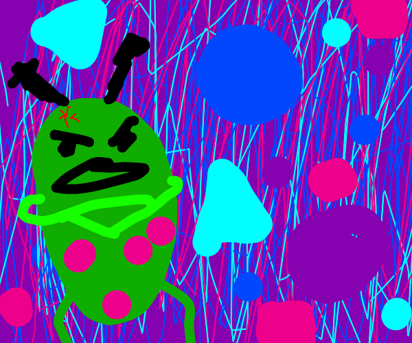 Angry alien and shapes