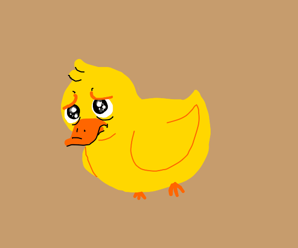 sad duckling