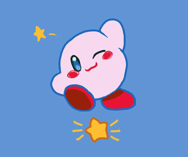 Kirby being Kirby
