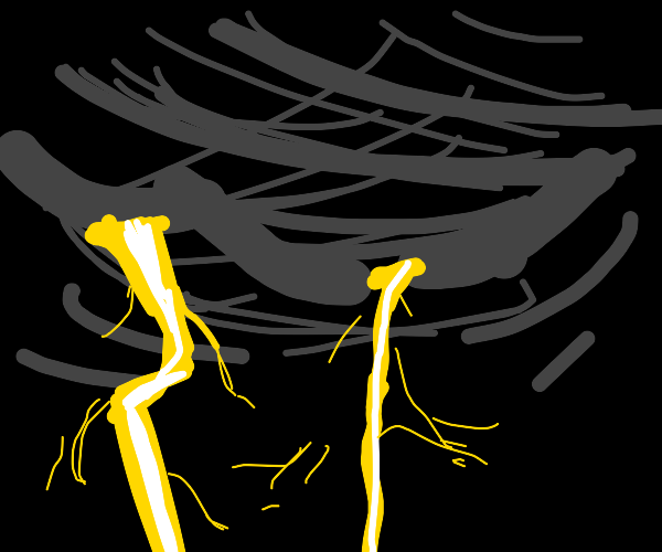 Black-Lightning Storm