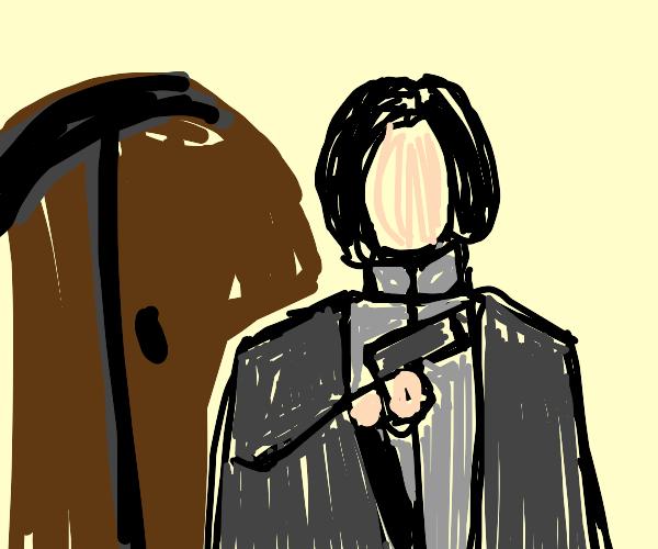Snape has a Gun