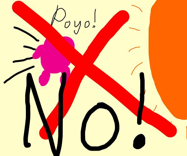 Do not Kirby directly towards the Sun
