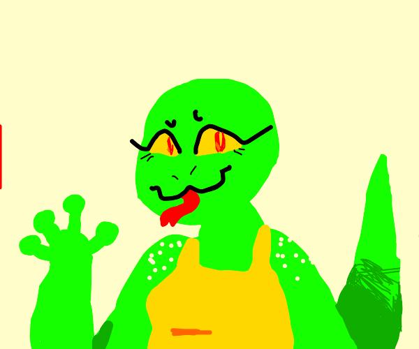 A female human lizard