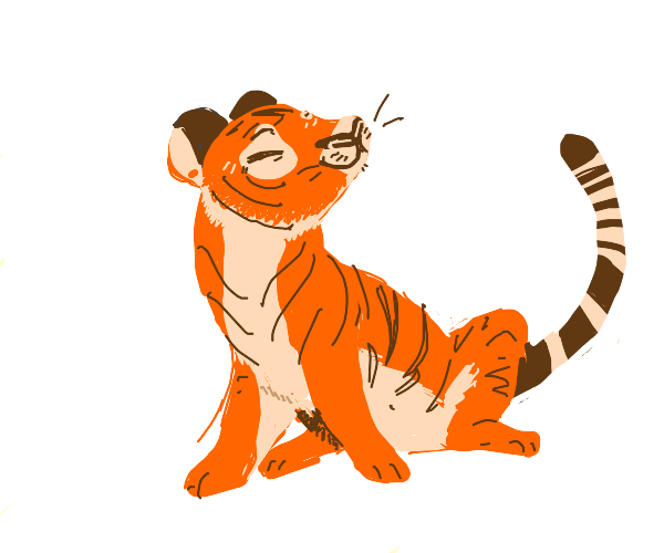 Happy tiger