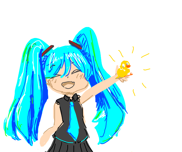 Hatsune miku gives you a duck!!