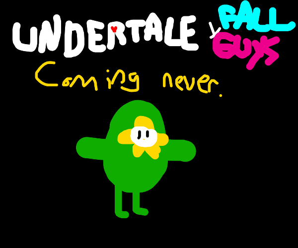 Flowey from Undertale becomes Fall Guys