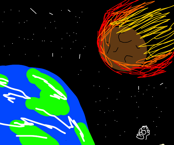 Meteor target about to hit earth