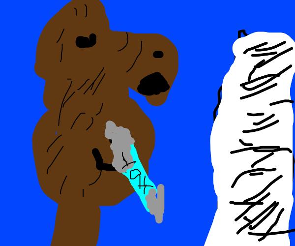 The bear has to pay a looooot of taxes