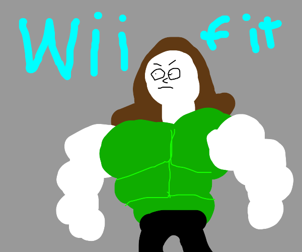 Wii fit trainer's got a six pack