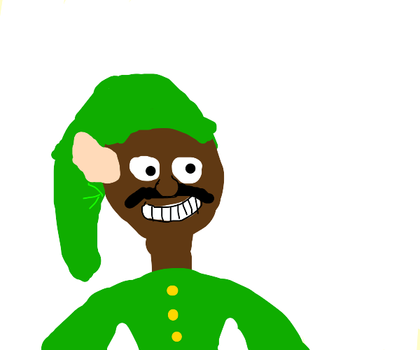 steve harvey dressed in link cosplay
