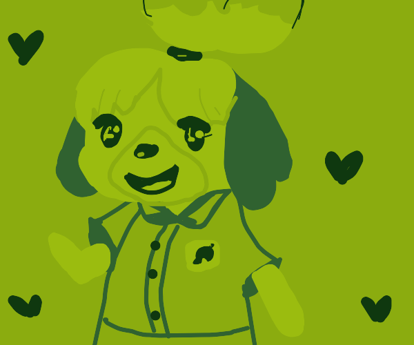 isabelle!!! (animal crossing)