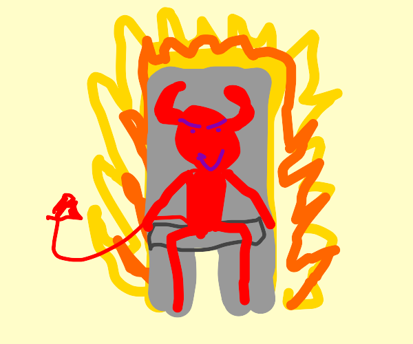 Devil chillin' on the hottest throne
