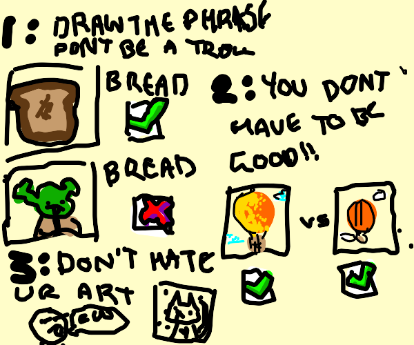 How to draw on drawception in 3 easy steps