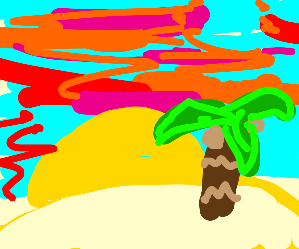 a desert island in a morning