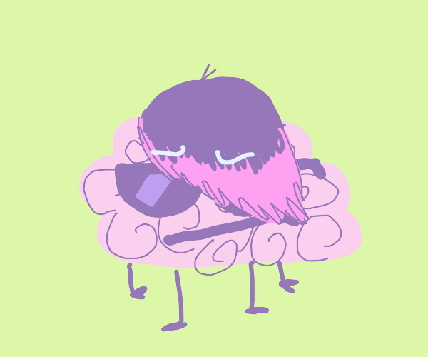 Edgy brain with sunglasses
