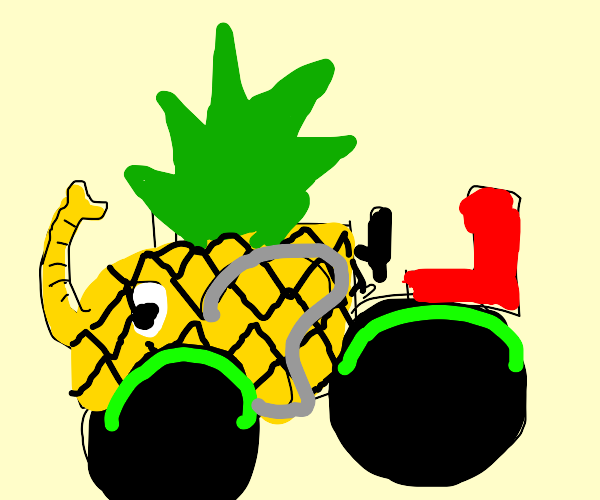 Elephant tractor pineapple hybrid