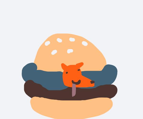 doge turns into cheemsburger
