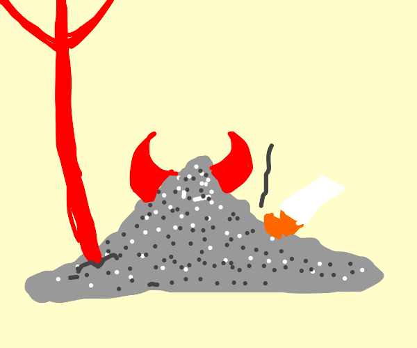 evil demonic Ash
