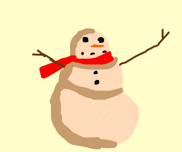 Snowman but sand