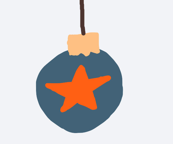 Blue ornament with star on it