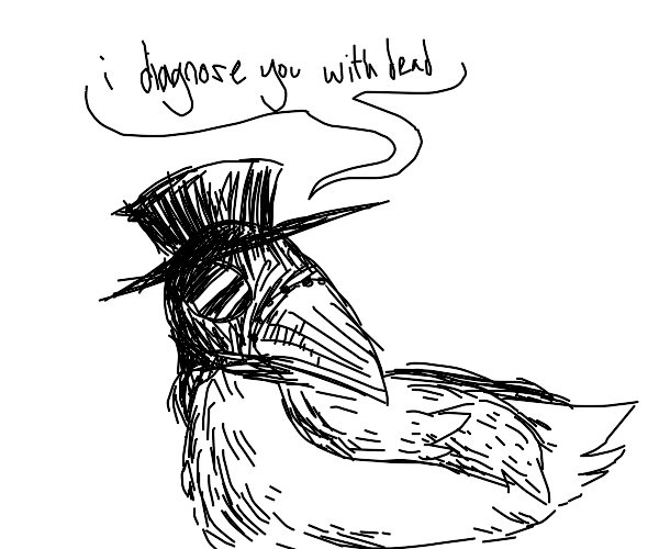plague doctor but in bird form