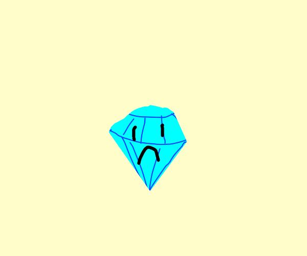 a sad diamond