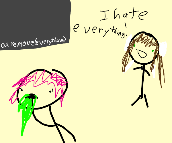girl hates everything and stickman vomits