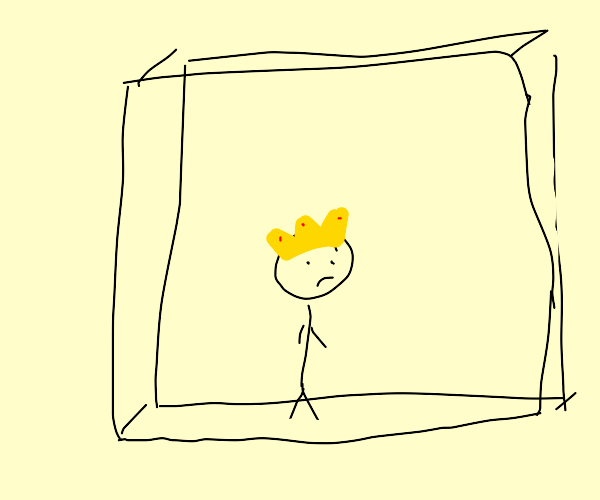stickman king trapped in box