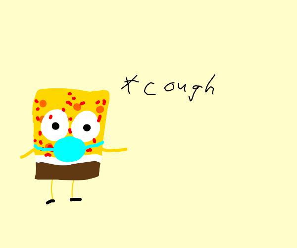 spongebob gets covid