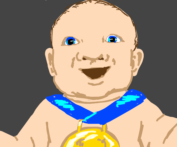 Blue Eyes White Baby wins a gold medal